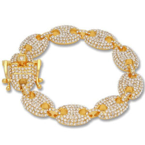 bracelet graine de café or diamant